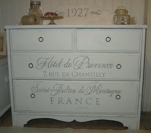 Byrå shabby chic lantlig Hôtel de Provence