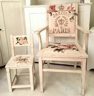 Barnstol med änglar och rosor