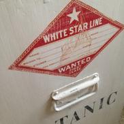 Kistbyrå White Star Line maritim med handtag