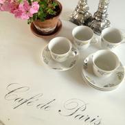 Ovalt pelarbord matbord Café de Paris för 4-5 pers