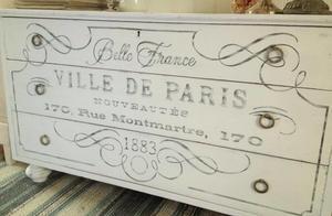 Låg byrå / TV-bänk Ville de Paris