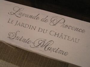 Lten sittbänk Lavande de Provence