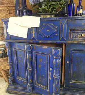Fransk koboltblå kommod 1800-tal