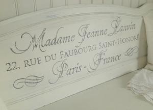 Träsoffa Madame Jeanne Lanvin med förvaring