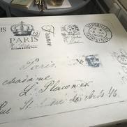 Skrivbord gustaviansk stil franska texter