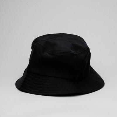 Stussy Bucket Cap Rubber Patch Black