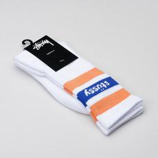 Stussy Socks Logo Jacquard White/Orange