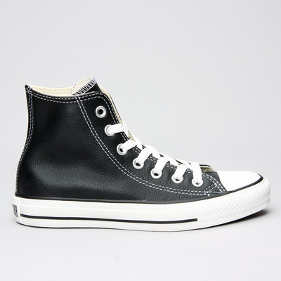 Converse All Star Leather Hi Black