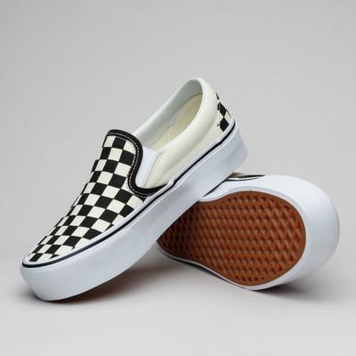 Vans Classic Slip-On Plattform Blk&Wht Check