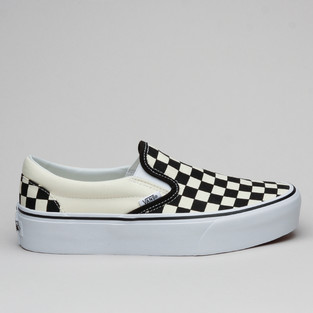 Vans Classic Slip-On Plattform Blk&Wht Check