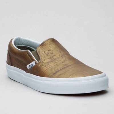 Vans Slip-On (Brushed Metallic) Gold