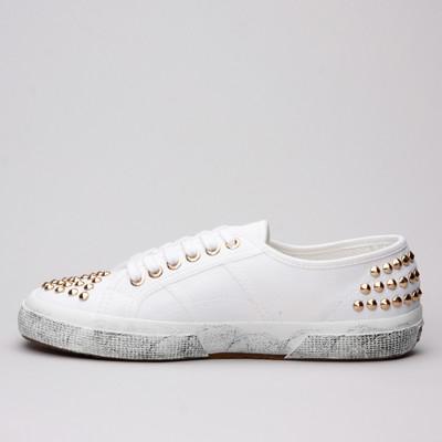 Superga 2750 Cotstuds White/Gold