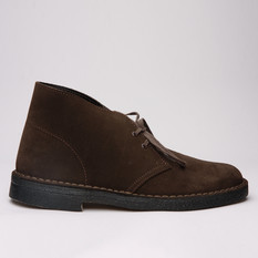 Clarks Desert Boot Brown Suede Womens