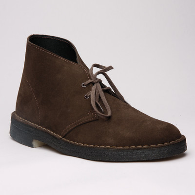 Clarks Desert Boot Brown Suede Womens