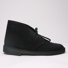 Clarks Desert Boot Black Suede Womens