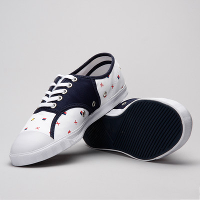 Lacoste Live Rene Nfp Wht/Nvy Canvas