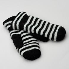 Gaucho Striped Mitt Warm Svart/Offwhite
