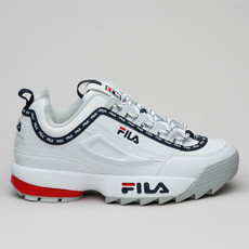 Fila Disruptor Logo Low Wmn White