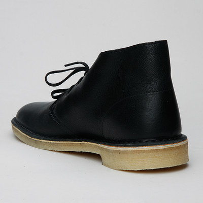 Clarks Desert Boot Tumbled Leather Blk