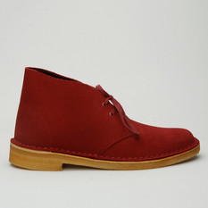 Clarks Desert Boot Suede Cherry Womens