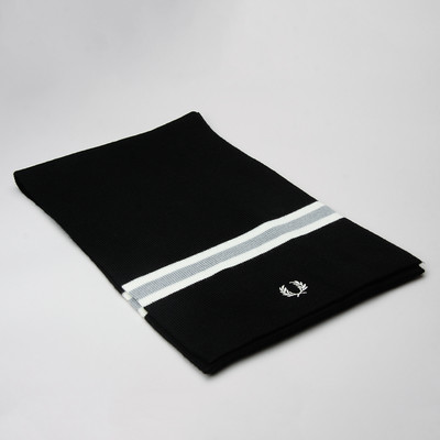 Fred Perry Scarf Merino Wool Black