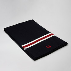 Fred Perry Scarf Merino Wool Navy