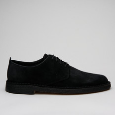 Clarks Desert London Black Suede