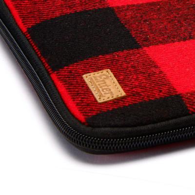 Enter Ipad Twin Zipper Red/Blak Flannel