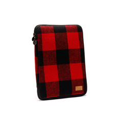 Enter Ipad Twin Zipper Red/Blak Flannel