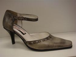 Pavone fin skön sko i skinn, grå