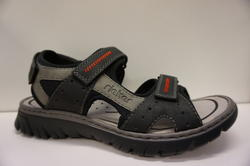 Herr sandal, svart/grå. Märke: Rieker