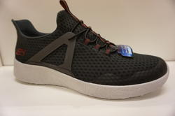 SKECHERS Herr sko med Memory Foam innersula och Air-Cooled. Svart/grå.