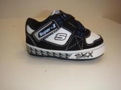 Skechers sneakers i skinn med kardborrband