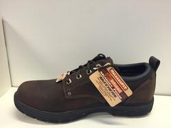 "Skechers herr-sko i brun nubuck-skinn, innersula ""Memory foam"""