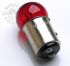 6v BAY15D Red bulb taillight 18W/5W