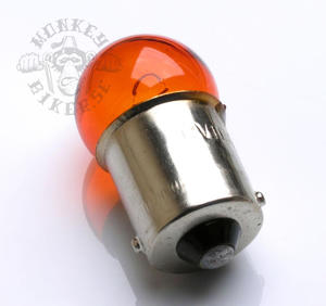 12v BA15S Orange bulb winker 10W