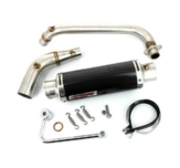 Downswept exhaust Zero Rose style carbon
