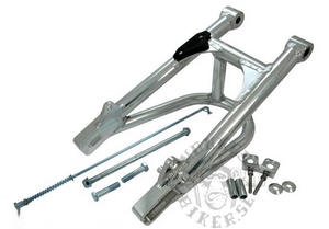 Alloy Swing arm tube profile with brace  +4cm