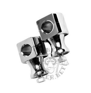 Handle bar holders polished alloy