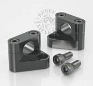 Handle bar holders alloy CNC Kitaco style Black