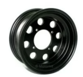 "8"" alloy rims 8 hole CNC Black"