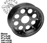 "10"" alloy rim 8hole design Black"