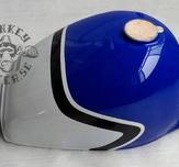 Gas tank Monkey J2 replica blue white black