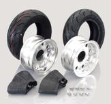 "8"" Kitaco alloy wheel set"