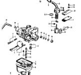 Carburetor overhaul kit Z50