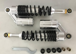 330mm shock absorbers silver with black springs