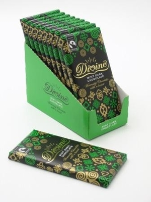 Divine dark chocolate with mint crisp 100g