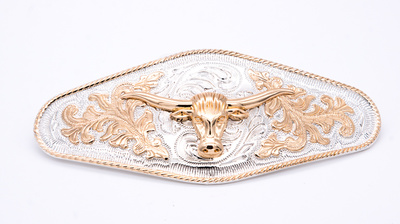 Buckle for leather belt