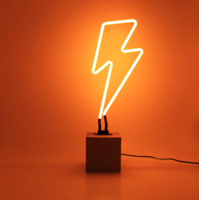 BLIXT neon Lampa