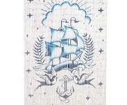 Curtain Tattoo Ship Bamboo